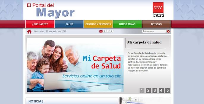 El Portal del Mayor de la Comunidad de Madrid supera los 11 millones de páginas vistas en sus 10 años de vida